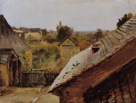 Karl Eduard Blechen - Vue sur les toits et les jardins