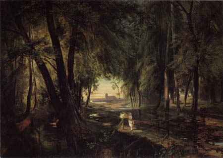 Karl Eduard Blechen - Forest way, Spandau