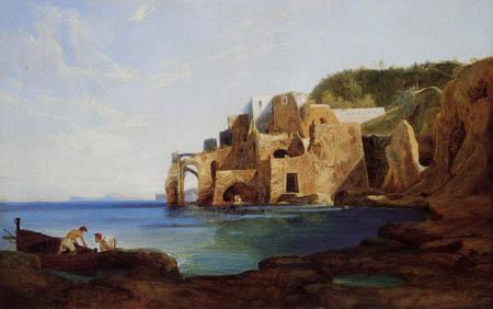Karl Eduard Blechen - Ruinen am Golf von Neapel