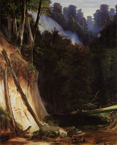 Karl Eduard Blechen - Gorge Forest with Deer
