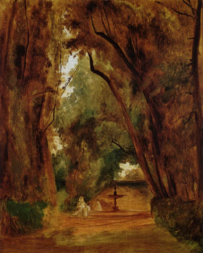 Karl Eduard Blechen - In the Park of the Villa Borghese