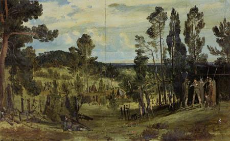Karl Eduard Blechen - The Camp of Semnoni
