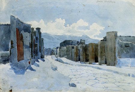 Karl Eduard Blechen - Via Consolare in Pomoeji