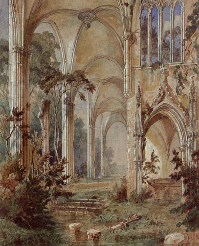 Karl Eduard Blechen - Gothical church ruin