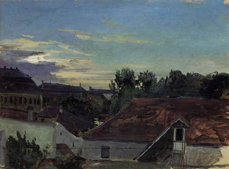Karl Eduard Blechen - Roofs of Berlin