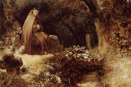 Karl Eduard Blechen - A monk in the forest