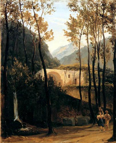 Karl Eduard Blechen - Italian wood landscape