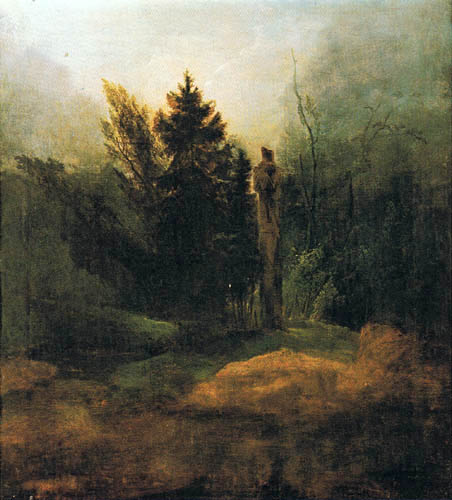 Karl Eduard Blechen - A Monument in the Forest