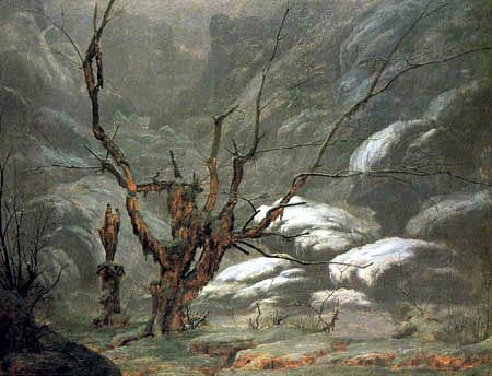 Karl Eduard Blechen - Canyon in winter
