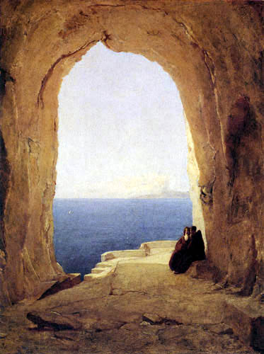 Karl Eduard Blechen - Grotto in the Gulf of Naples