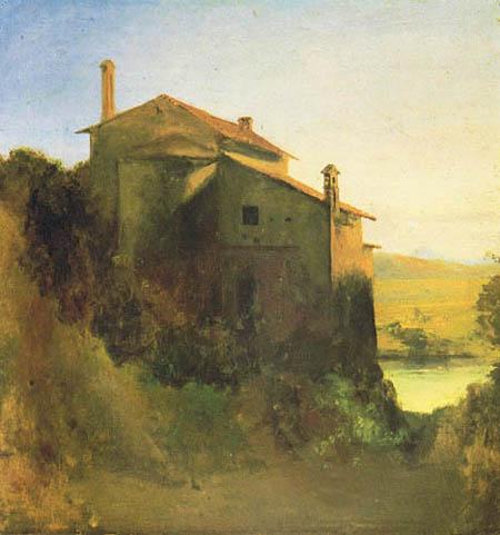 Karl Eduard Blechen - Italien Convent on the Water