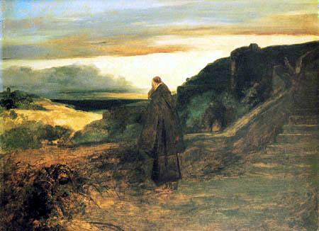 Karl Eduard Blechen - A Monk on the Terrace