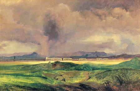 Karl Eduard Blechen - Les tempêtes dans la campagne romaine