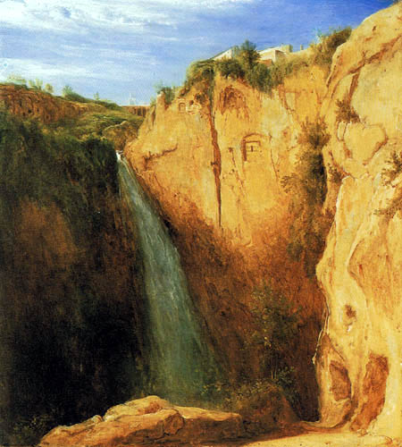 Karl Eduard Blechen - Waterfalls at Tivoli