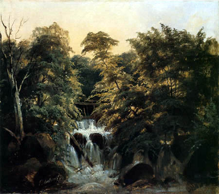 Karl Eduard Blechen - Forest Landscape with Waterfall