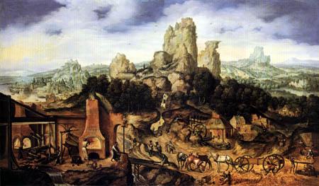 Herri met de Bles - Landscape with Forge
