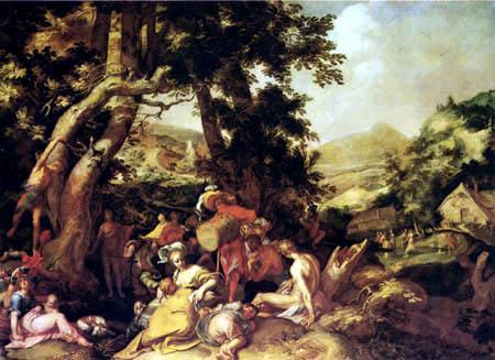 Abraham Bloemaert - La prédication de Jean le Baptiste