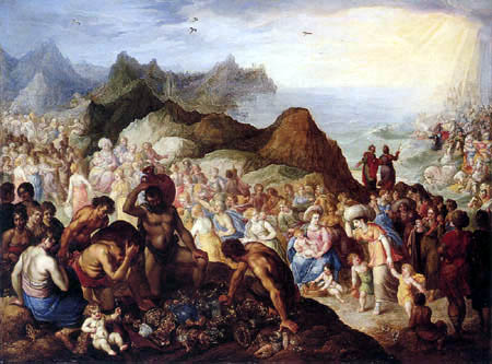 Abraham Bloemaert - The Israelites Cross the Red Sea