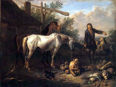 Peeter van Bloemen - Horse Stable