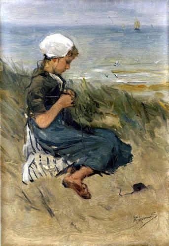 Bernardus Johannes Blommers - Girl on a Dune