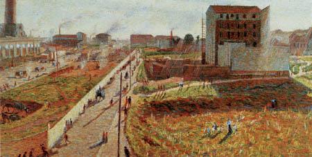 Umberto (Humberto) Boccioni - Factories to the Porta Romana