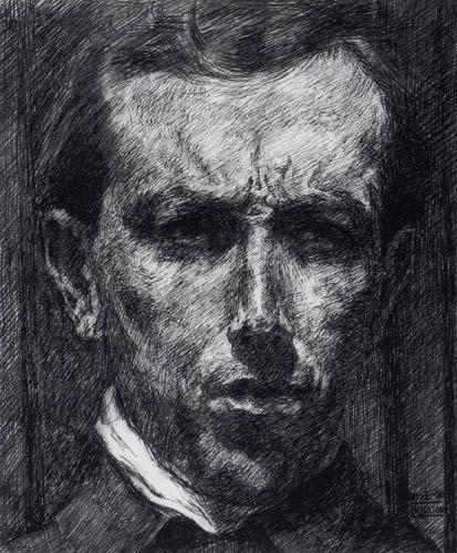 Umberto (Humberto) Boccioni - Selbstporträt
