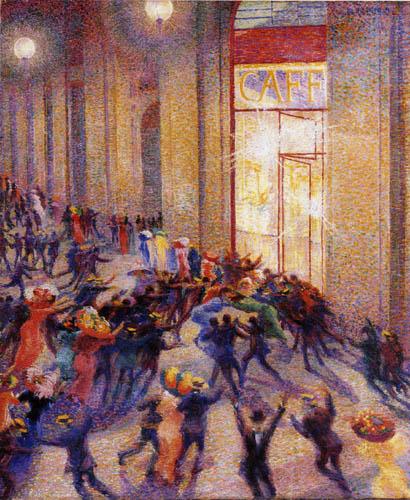 Umberto (Humberto) Boccioni - Schlägerei in der Galleria
