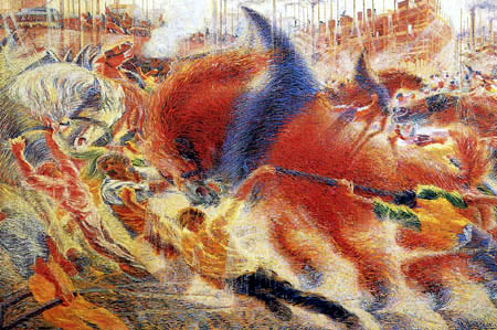 Umberto (Humberto) Boccioni - The town stands on