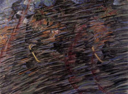 Umberto (Humberto) Boccioni - Seelenzustände I - Die Abreisenden