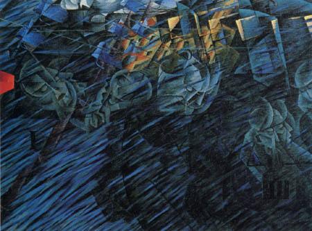 Umberto (Humberto) Boccioni - Seelenzustände II - Die Abreisenden