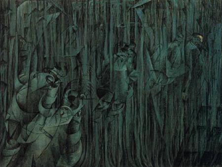 Umberto (Humberto) Boccioni - Seelenzustände II - Die Zurückbleibenden