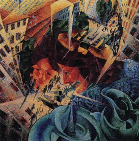 Umberto (Humberto) Boccioni - Simultane Visionen