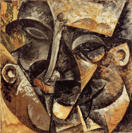 Umberto (Humberto) Boccioni - Dynamismus eines männlichen Kopfes
