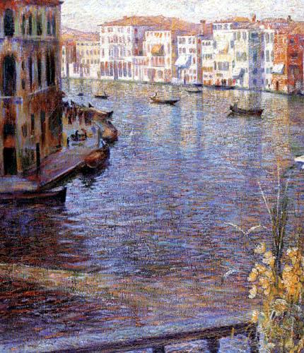 Umberto (Humberto) Boccioni - Der Canal Grande, Ausschnitt