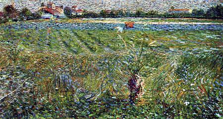 Umberto (Humberto) Boccioni - Lombardische Landschaft