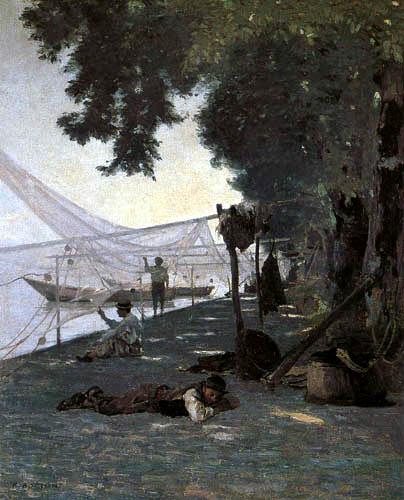 François Bocion - Netze und Fischer