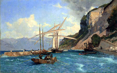 François Bocion - The Harbor of Meillerie