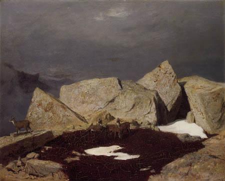 Arnold Böcklin - Mountainous Landscape