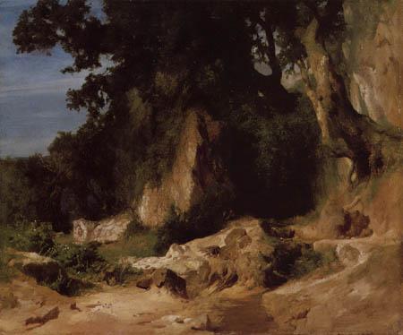 Arnold Böcklin - Path at Mont Saint-Albain