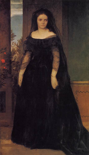 Arnold Böcklin - Portrait of Fanny Janauschek