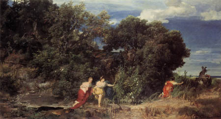 Arnold Böcklin - The hunt of Diana
