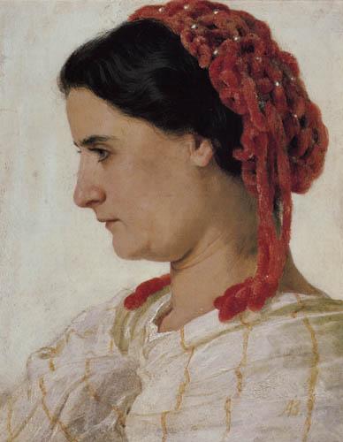 Arnold Böcklin - Portrait of Angela Boecklin