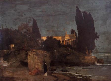 Arnold Böcklin - Villa am Meer