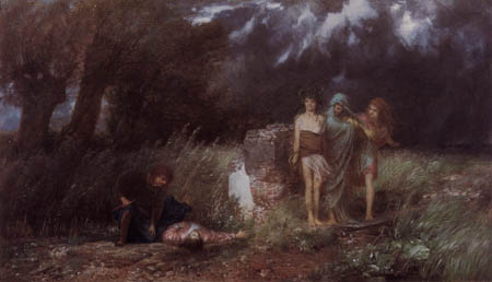 Arnold Böcklin - Asesino perseguido por las furias