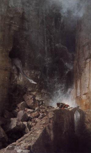 Arnold Böcklin - A dragon