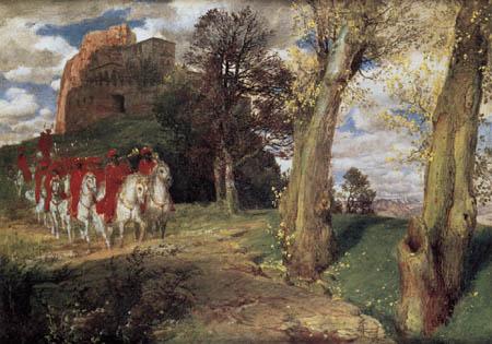 Arnold Böcklin - Moorish Horsemen