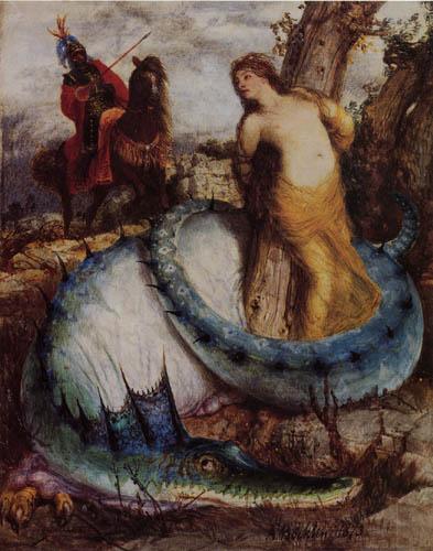 Arnold Böcklin - Angélica y el dragón