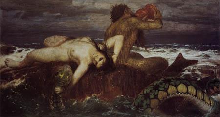 Arnold Böcklin - Triton und Nereide