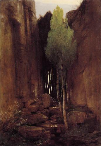 Arnold Böcklin - The ravine