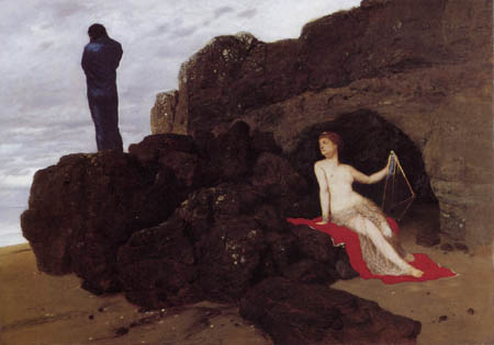 Arnold Böcklin - Ulysses and Calypso